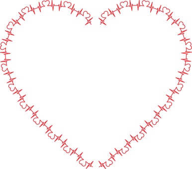 Coeur formé avec un tracé cardiaque